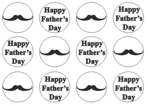 Moustache Edible Cupcake Toppers