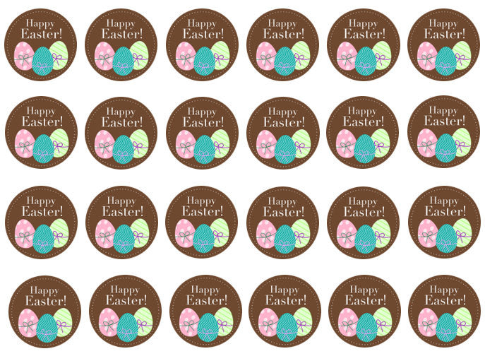 Easter Egg Cupcake Toppers | Edible Easter Cake Topper | Set of 24