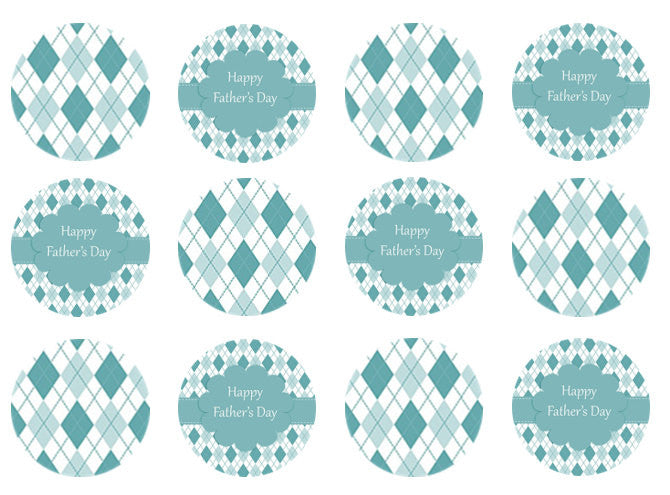 Fathers Day Edible Cupcake Toppers