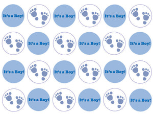 new baby cupcake toppers for boys, set of 24