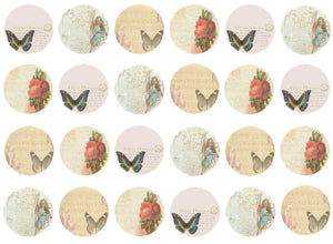 Vintage Cupcake Toppers | Set of 24