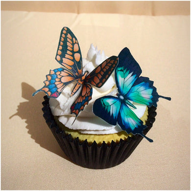Large Edible Wafer Butterflies