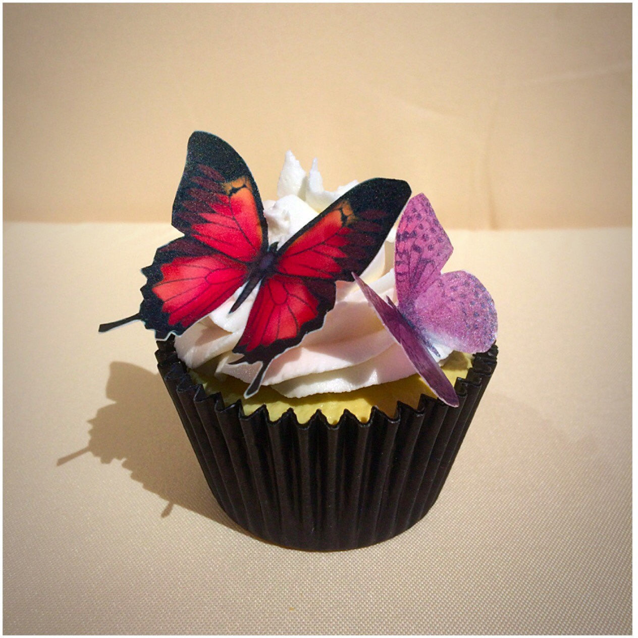 Pink & Purple Edible Wafer Butterflies