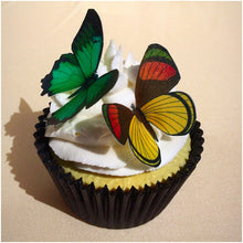 orange & green edible wafer butterflies uk