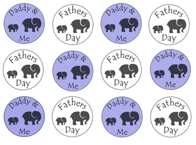 Fathers Day Gift | Edible cupcake toppers