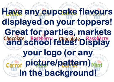 custom cake toppers with any logo | School fete edible toppers