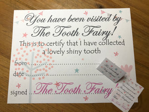 Tooth Fairy Mini Letter in Pink
