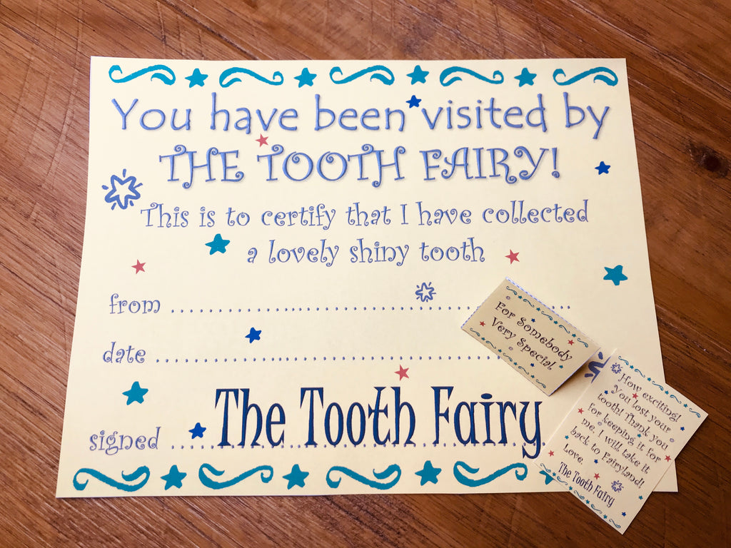 Tooth Fairy Mini Letter in Yellow