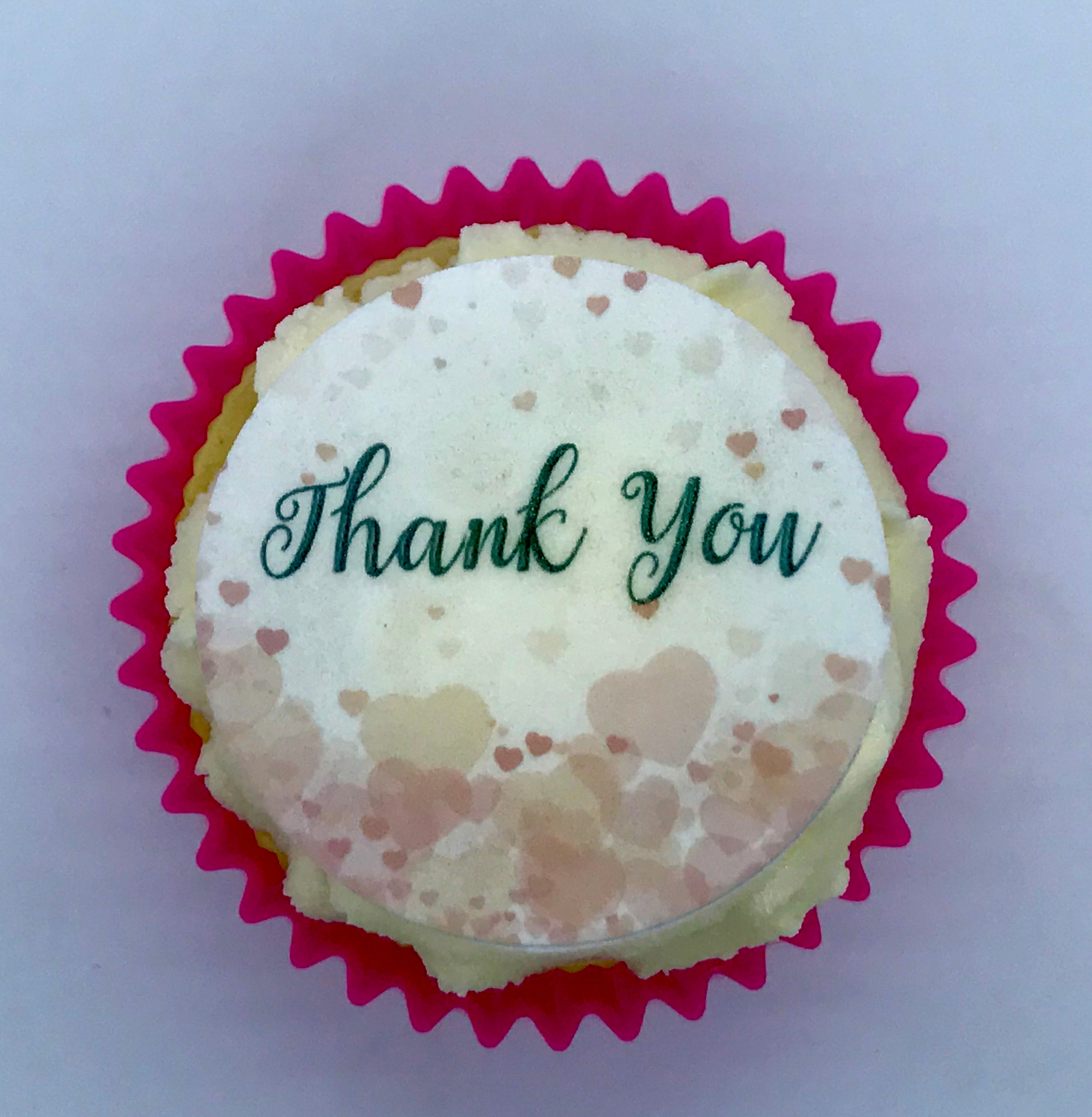 Thank You Hearts Cupcake Toppers