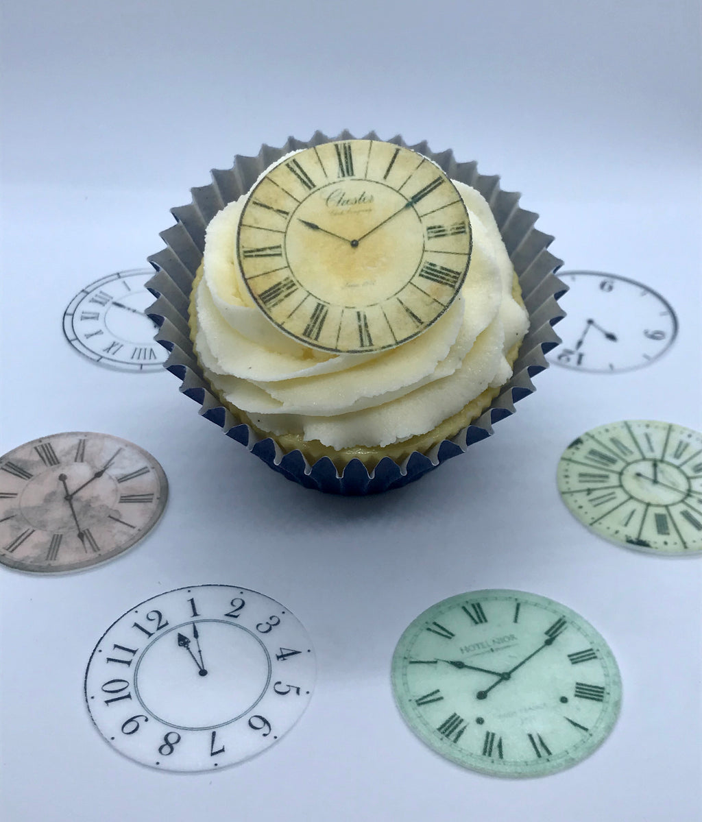 Clocks Cupcake Toppers