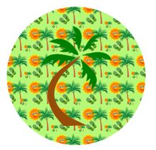 Hawaiian Cake Toppers UK | Tropical Edible Cupcake Toppers | Palm Tree