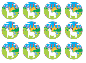Unicorn Cupcake Toppers UK | Set of 12 | The Village Cake Company