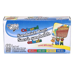 Chef Elite sacs à sandwich colorés pk60