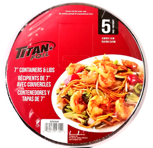"Titan Foil cook-n-carry rond 7"" pk5"