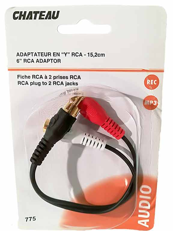 Adaptateur en ''Y'' RCA de 6 po. - Dollar Royal