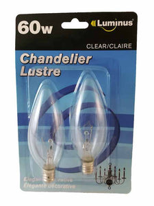 Ampoule chandelier lustre 60w blanc clair - Dollar Royal