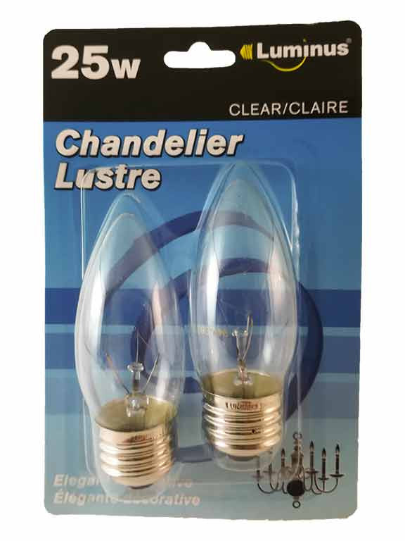 Ampoule chandelier ustre blanc clair 25w (p11625) - Dollar Royal