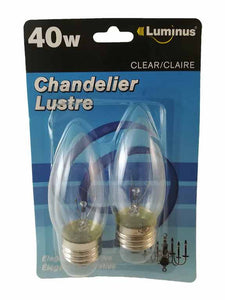 Ampoule chandelier lustre 40w blanc clair - Dollar Royal