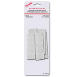 Attaches boucles auto-collantes rondes blanches