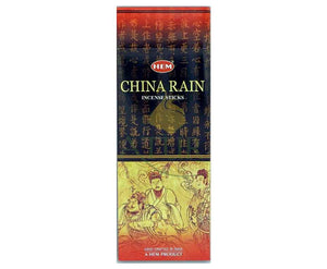 Natural Scents, bâtons encens hexagonaux, ''China Rain''