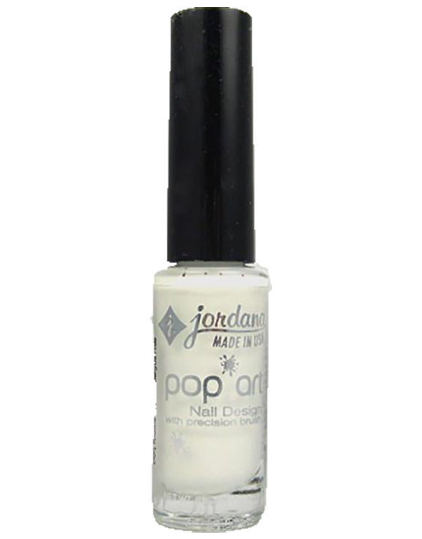 Jordana, Pop Art nail design: Contemporary White