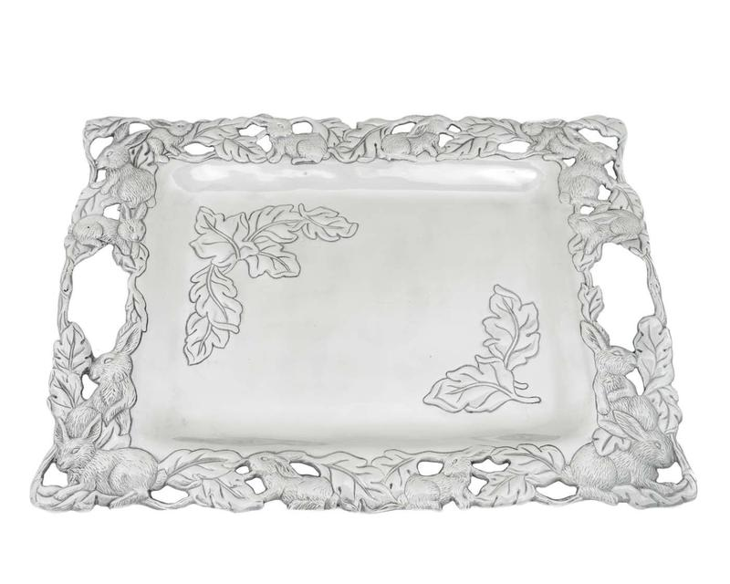 Bunny Large Platter from Arthur Court Designs