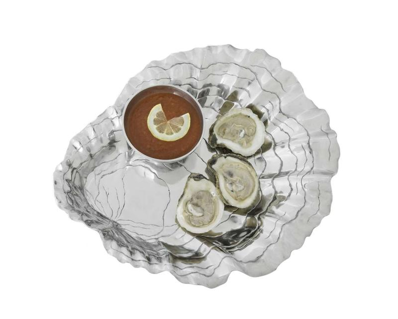 Oyster with Pearl Chip and Dip from Arthur Court Designs