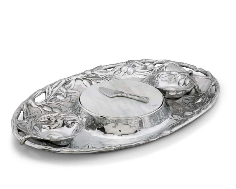 Olive Entertainment Tray from Arthur Court Designs