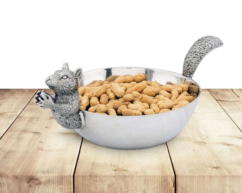 Squirrel Head and Tail Nut Bowl - Large from Arthur Court Designs