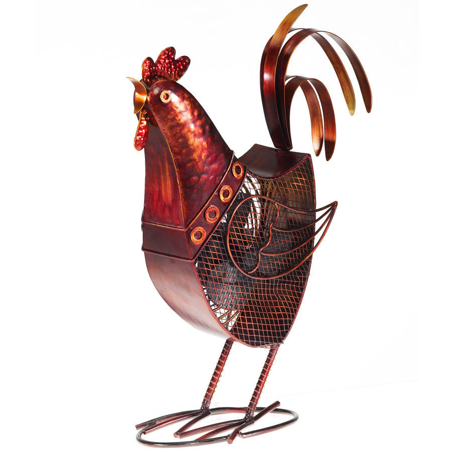 Rooster Figurine Fan