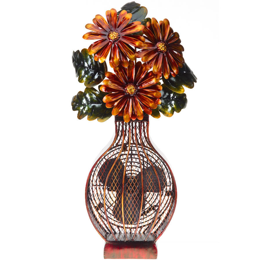Flower Bouquet Figurine Fan