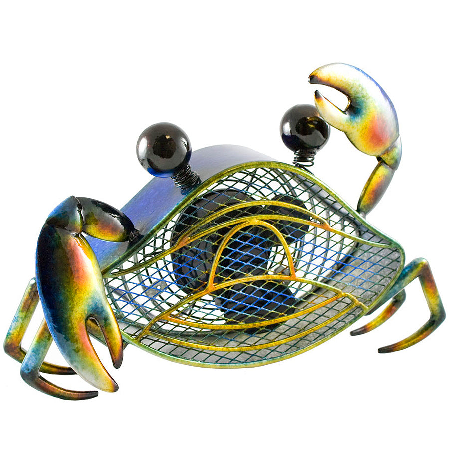 Blue Crab Figurine Fan - Small