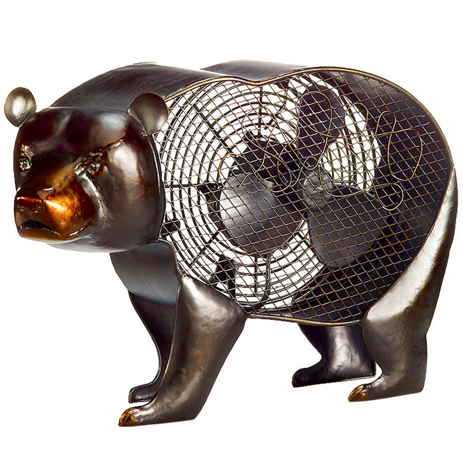 The Black Bear Figurine Fan