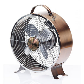Retro Metal Fan in Copper