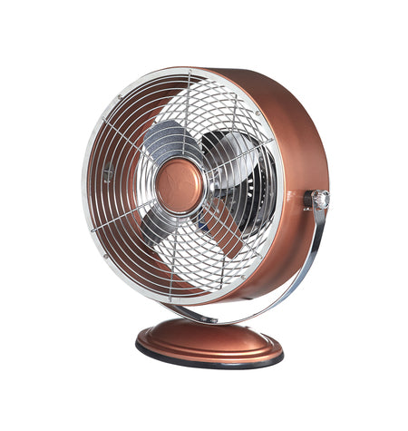 Retro Swivel Fan in Copper Metallic