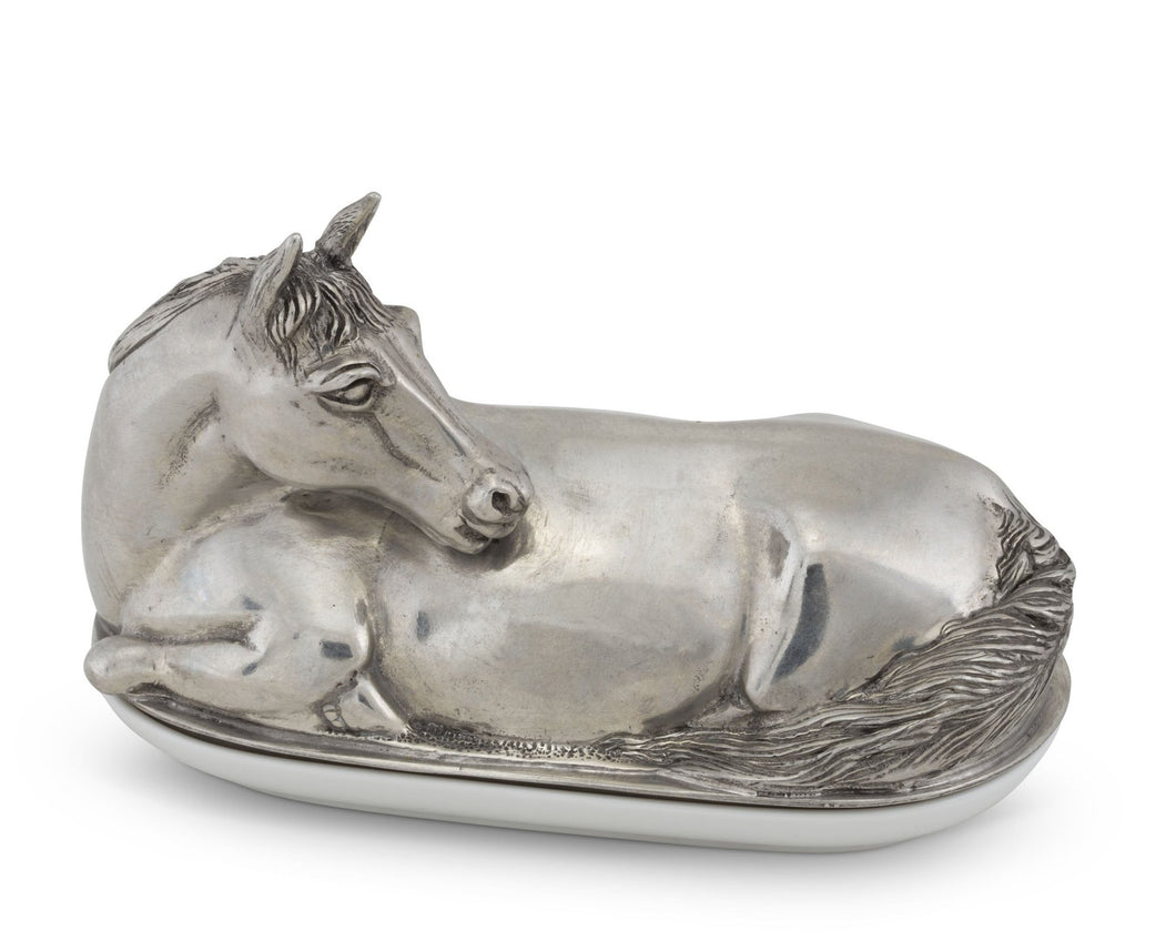 Butter Dish - Horse from Vagabond House