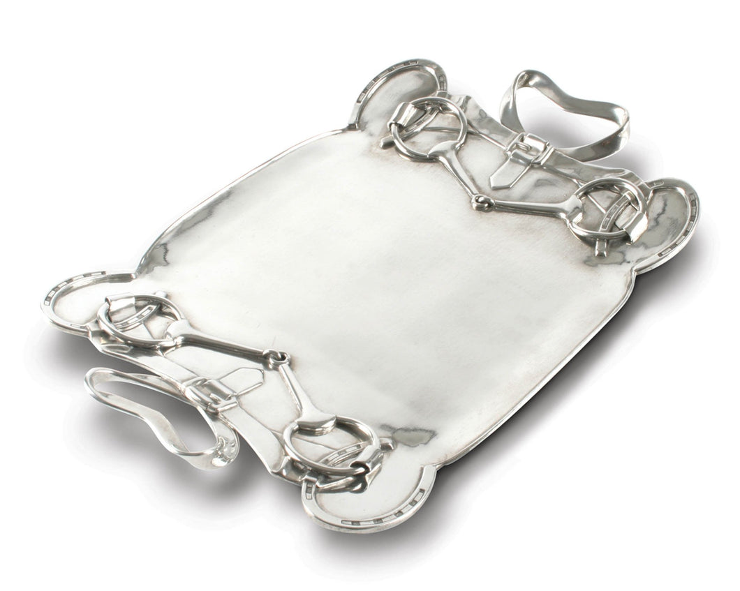 Horseshoe & Bit Serving Tray - Vagabond Equestrian Collection