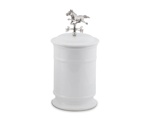 Horse Weathervane Stoneware Canister - Vagabond Equestrian Collection