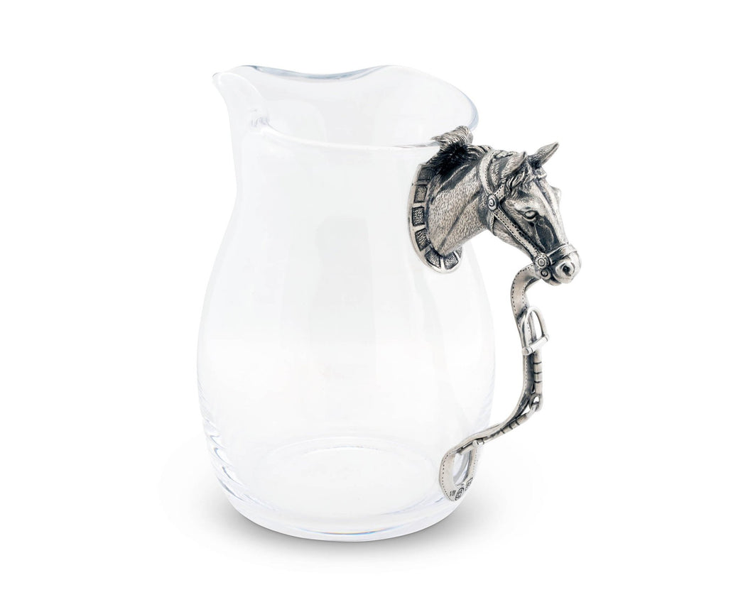 HORSE HEAD PITCHER - Vagabond Equestrian Collection