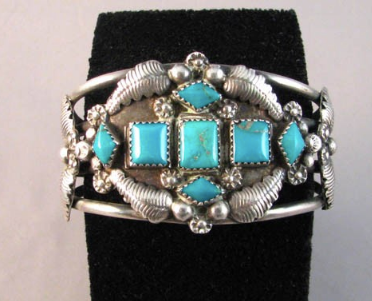 1960s Native American Navajo Made Cuff Bracelet - Native American Jewelry