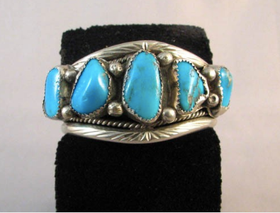 1970s Native American Navajo Made Cuff Bracelet - Native American Jewelry