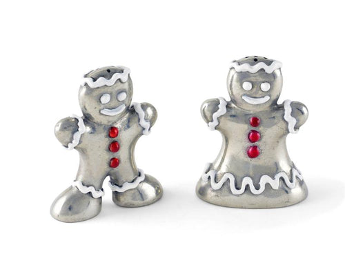 Vagabond House Gingerbread Couple Salt & Pepper Set - Holiday Collection