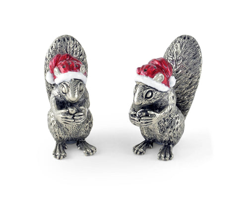 Vagabond House Santa Squirrels Salt & Pepper Set - Holiday Collection