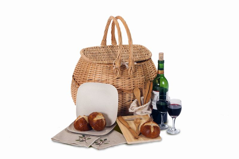 Alpharetta Eco 2 Person Picnic Basket from our Picnic Plus line