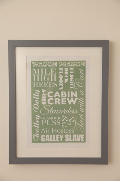 Green Typography Print