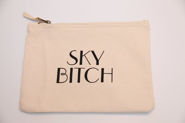 """Sky Bitch"" Make Up Bag"