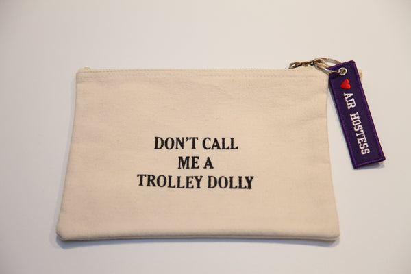 """Trolley Dolly"" Make up bag/Pencil Case"