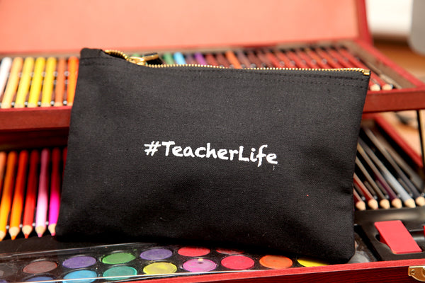 #TeacherLife Cotton Pouch