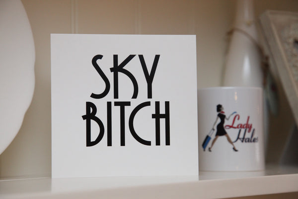 """Sky Bitch"" Greeting Card"