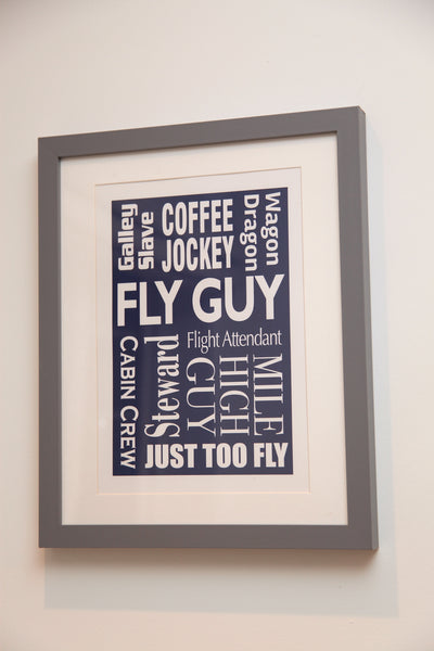 """FLY GUY"" Typography Print"